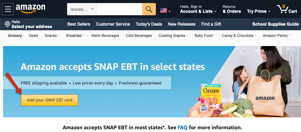 """How to Add California EBT Card to Amazon Account"""