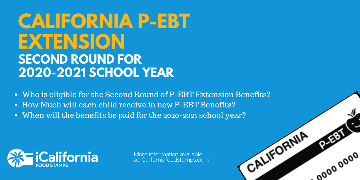 """""""Second round of California P-EBT payment"""""""